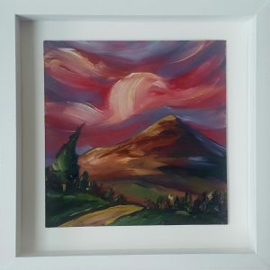 SugarloafSunset 36x 36 framed€225