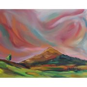 Irsh Landscape painting of the Sugarloaf in Wicklow Ireland