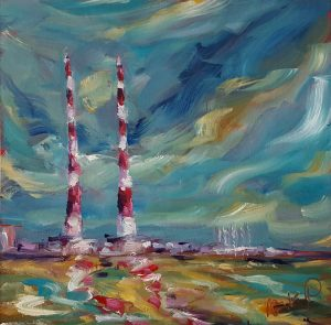 Poolbeg Chimneys, Sandymount