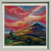 Red sky delights over the Sugarloaf Mountain