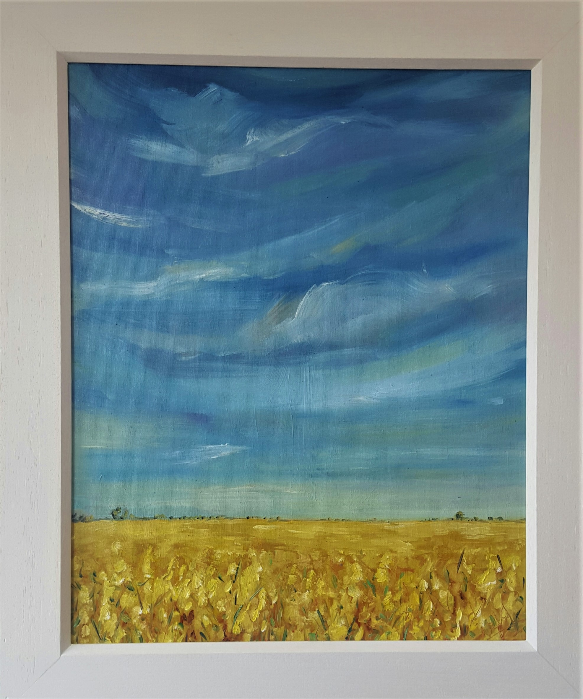 Golden fields and Blue skies - summer delight