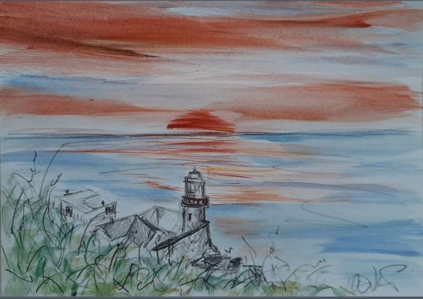 Sunrise over Wicklow Lighthouse